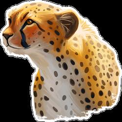 Cheetah Large Cat Illustration Sticker