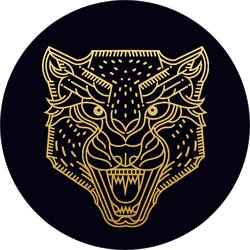 Cheetah / Wild Animal / Line Art Illustration Sticker