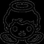Cherub Angel Face Sticker