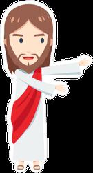 Chibi Jesus Christ Presenting Sticker