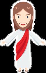 Chibi Jesus Christ Sticker