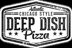 Chicago Style Deep Dish Pizza Stamp Sticker
