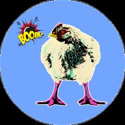 Chicken Of Breed Broiler In Pop Art Style Sticker