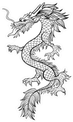 Chinese Dragon Hand Drawn Illustration Sticker