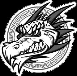 Chinese Dragon Mascot Sticker