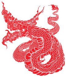 Chinese Dragon Tattoo Silhouette Sticker
