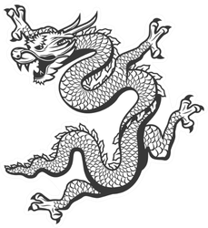 Chinese Flying Dragon Sticker