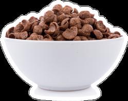 Chocolate Cereals In White Bowl Sticker