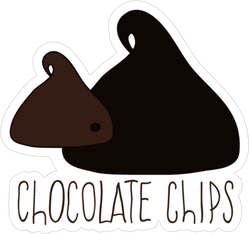 Chocolate Chips Sticker