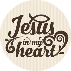 Christian Art Jesus In My Heart Sticker