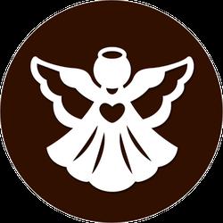 Christmas Angel Silhouette Sticker