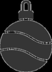 Christmas Ball Icon Sticker