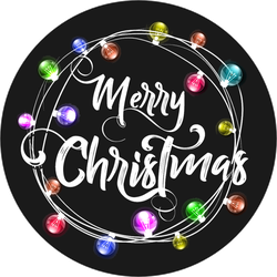 Christmas Lettering And Lights Sticker