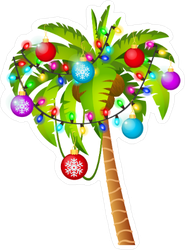 Christmas Palm Sticker