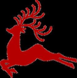 Christmas Reindeer Silhouette.Christmas Reindeer Silhouette Sticker