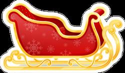 Christmas Santa Claus Sleigh Sticker