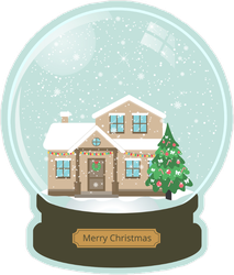 Christmas Snow Globe Sticker
