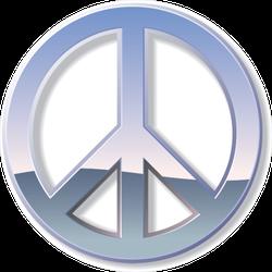 Chrome Peace Sign Sticker