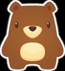 Chubby Bear Cartoon Sticker