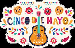 Cinco De Mayo Mexican Holiday Sticker