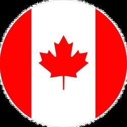 Circle Canada Flag Sticker