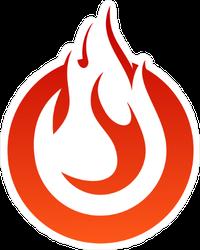 Circle Flame Sticker