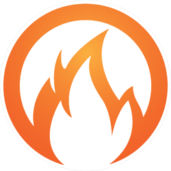 Circle Flames Sticker