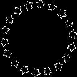 Circle of Stars Sticker