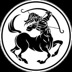 Circle Sagittarius Archer Centaur Sticker