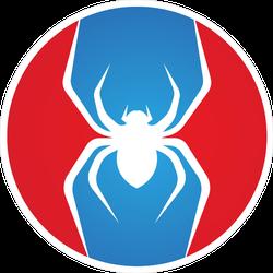 Circle Spider Logo Sticker