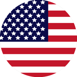 Circle US Flag Sticker