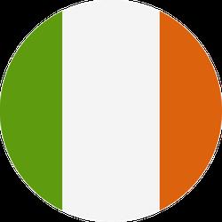 Circular Ireland Flag Sticker