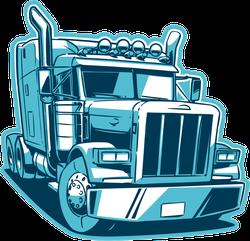 Classic American Blue Truck Sticker