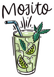 Classic Cocktail Mojito Sticker
