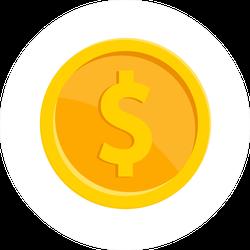 Classic Gold Dollar Sign Sticker