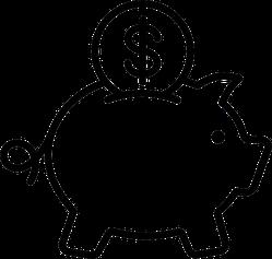 Classic Piggy Bank Sticker
