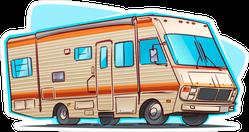 Classic RV Camper Sticker