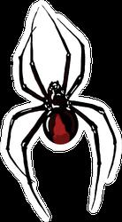 Climbing Black Widow Spider Sticker