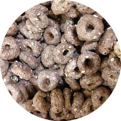 Close Up Breakfast Chocolate Cereal Rings Sticker