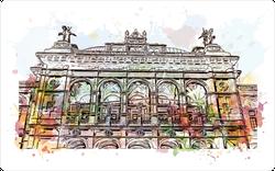 Close Up Landmark Building View Of Vienna Sticker