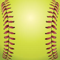 Closeup Of Softball Laces Sticker