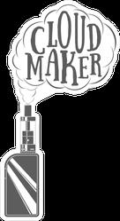 Cloud Maker Vape Sticker