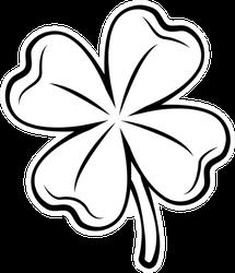 Clover Four-leaf Contour Sticker