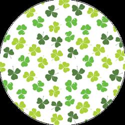 Clover Leaf Hand Drawn Pattern Sticker