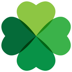 Clover Leaf Logo Icon Sticker