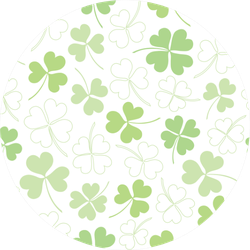 Clover Pattern For Saint Patrick's Day Sticker