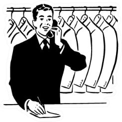 Coat Check Or Dry Cleaning Illustration Sticker