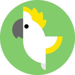 Cockatoo Parrot On Green Sticker