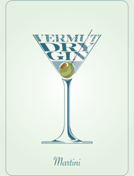 Cocktail Illustration Sticker