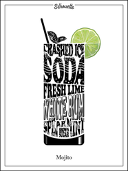 Cocktail Silhouette Mojito Sticker